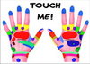 "Postkarte ""Touch me"""
